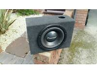 12 inch poineer sub with amp