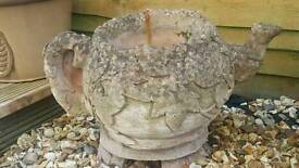 Stone teapot and stand