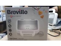 Breville VST074 DuraCeramic Sandwich Toaster, White