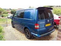 2011 VW T5 Kombi Transporter, Blue. Fully insulated and carpeted