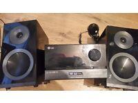 lg hifi with ipod dock radio cd mp3 player usb input remote lovelly sound