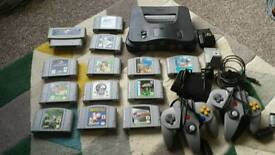 Nintendo 64 console and games (ntsc)
