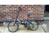 Folding bike black adult adjustable sway and handle height