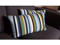 2 Large Striped Rectangular Cushions   SUPER COMFY!