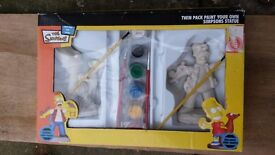 Simpsons paint your own statue