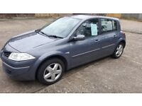 07 plate Renault Megane, 75,000 miles, 1600cc, very clean and tidy, MOT till Sept 2018,