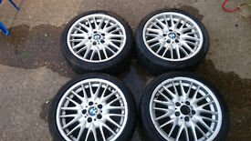 """BMW 18"""" alloys with tyres"""