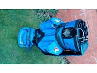 Arnold Palmer blue golf bag with 10balls