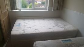 Bed + Matress (1 double + 2 4 ft)
