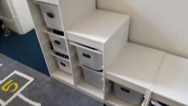 White IKEA storage unit