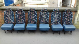 For sale: Six van/minibus seats with integral seat-belts