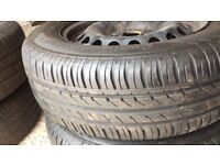 Continental Tyres On VW/Golf Steel Rims 195 65 15