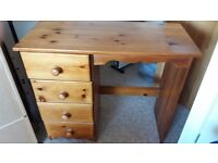 Solid Pine Dressing Table and Computer chair