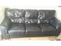 3 seater leather sofa.. rugby