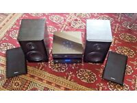 SANDSTROM SHFTPPH10 MICRO HIFI STEREO SYSTEM 10W CD PLAYER DAB TUNER USB AUX
