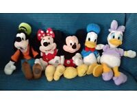 Soft Toys - Disney Store Mickey, Minnie, Donald, Daisy and Goofy