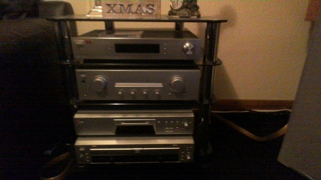 High quality sony seperates with stand and speakers mint condition superb sound all for £700 ono
