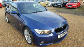 2007 BMW 3 Series 320i M Sport 2dr Coupe 2.0 Petrol,Hpi Clear,Full Service History,6 Speed,P-sensor