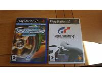 2 ps2 games. Gran turismo 4 and need for speed 2