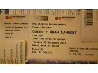 *x1 Queen & Adam Lambert Seated Ticket- 5th December- Nottingham Motorpoint Arena- EVENT SOLD OUT*
