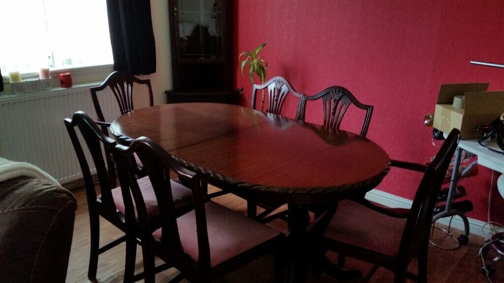 Astounding John E Coyle Mahogany Table Chairs Units In Dundee Gumtree Bralicious Painted Fabric Chair Ideas Braliciousco