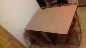 Space saving dinning table