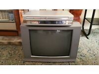 """Grundig stereo CRT 20"""" TV with LG DVD VCR combo player"""