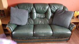Green 3 piece suite good condition