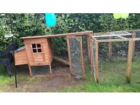 Chicken coop and a 9 panel run