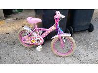 Girls bike 14 inches + stablisers