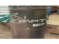 Sahara Big Burn tall Garden patio heater plus gas bottle
