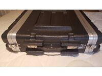 ABS 2u Rack Flight Case - used but good condition
