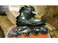 No fear in line skates used once size 1 to 2.5 uk