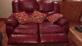 2seater recliner and armchair