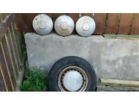 Vw t25 wheels tyres hubcaps