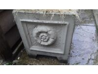Ornate concrete garden planters