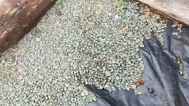 Loose garden stones