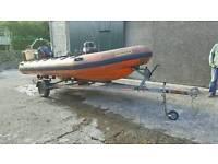 4 metre Humber rib boat