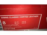 Ladies Nike Cortez Pure Platinum 5.5