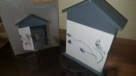 New In Box Shabby Chic Bird House Key Holder & Photo Frame Ornamanet