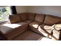 Dark Beige Corner Sofa - good condition