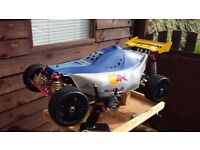 RC CAR. 2WD 1/5 PETROL. TX & RX. RED BULL SHELL. ZENOAH 23cc STAGE 2. FAST! READY TO RUN.