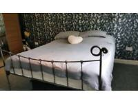 Steel bed frame hand made .king size