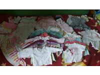 bungle of girls clothes (0-3mths)