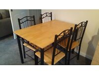 Table and 4 chairs x 4