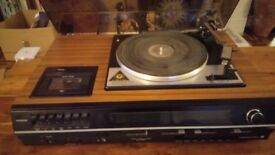 Hitachi vintage stereo music centre. 5DT 2450. Garrad record deck record player/cassette, radio