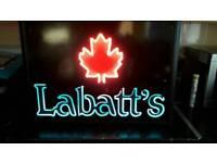 Labatts lager illuminated sign