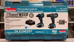 Makita Brushless Hammer Drill and Impact Driver Combo Set