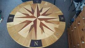 Compass Table Handmade