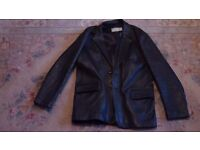 West End Collection London Genuine real leather fully lined black jacket.